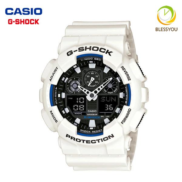 G-SHOCK gショック 白 ホワイト 腕時計 メンズ CASIO カシオ GA-100B-7AJF 新品お取り寄せ ギフト 135 SSS