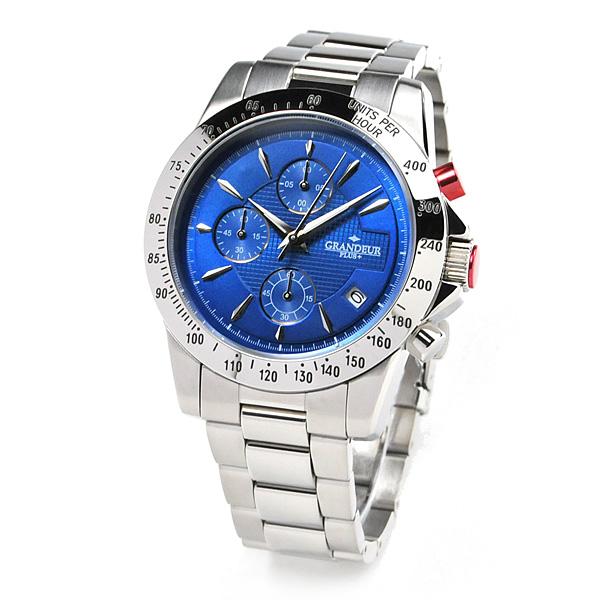 グランドール プラス クロノグラフ 腕時計 GRANDEUR PLUS GRP003W2 メンズ mp20