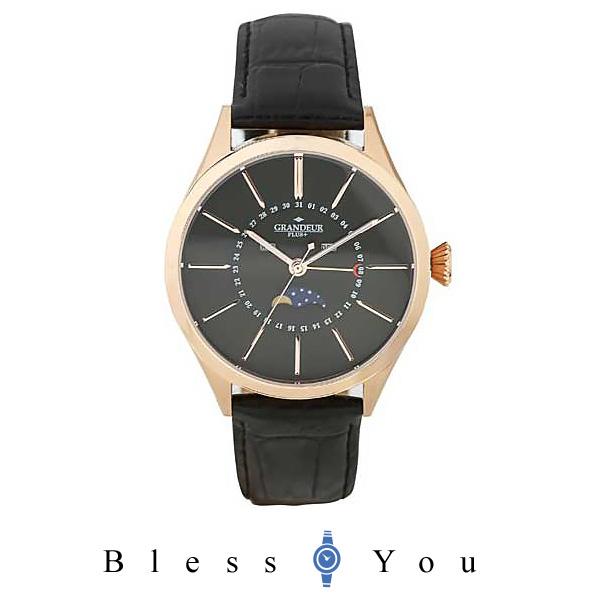 グランドールプラス GRANDEUR PLUS+ トリプルカレンダー&ムーンフェイズ メンズ腕時計 GRP011P1 mp20