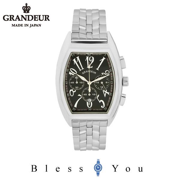 ポイント10倍 グランドール メンズ 腕時計 クロノグラフ 日本製 GRANDEUR JGR003W2