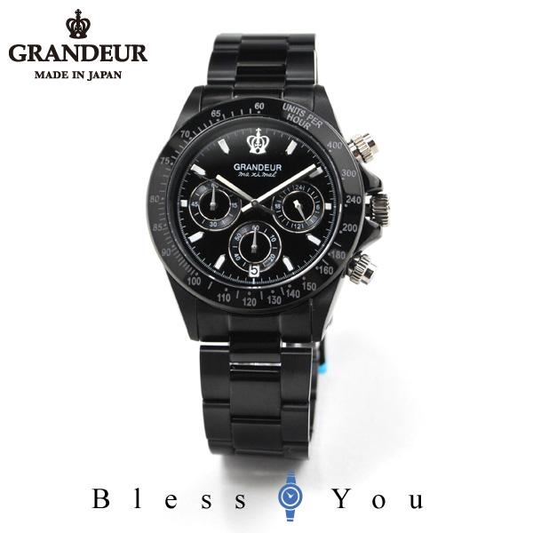 グランドール メンズ 腕時計 クロノグラフ 日本製 ダイバー テイスト GRANDEUR JGR005W3