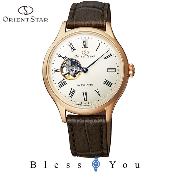 ORIENT STAR オリエント 機械式 腕時計 レディース オリエントスター クラシック セミスケルトン RK-ND0003S 50,0 自動巻き レザーバンド