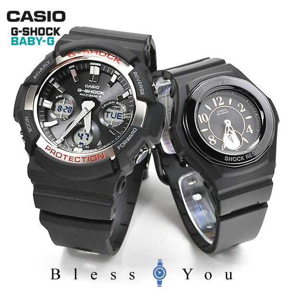 ペアウォッチ gショック g-shock 電波 ソーラー G-shock & Baby-G GAW-100-1AJF-BGA-1050B-1BJF 48,0 [腕時計 ペア カップル ブランド ウォッチ]