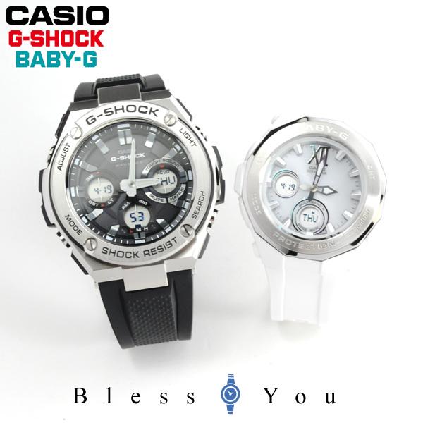 ペアウォッチ gショック ソーラー電波時計 GショックandベビーG メンズ レディース G-shock and Baby-G GST-W110-1AJF-BGA-2200-7BJF 65,5 腕時計 ペア