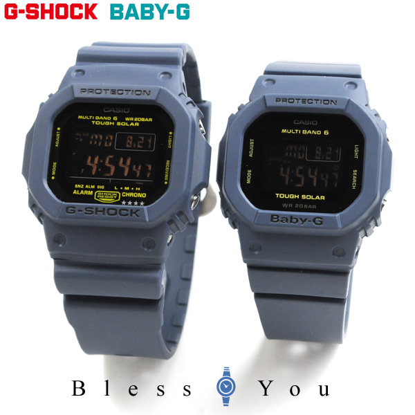 ペアウォッチ gショック g-shock 電波 ソーラー G-shock & Baby-G ネイビー GW-M5610NV-2JF-BGD-5000-2JF 39,0 【 腕時計 ペア カップル ブランド ウォッチ】