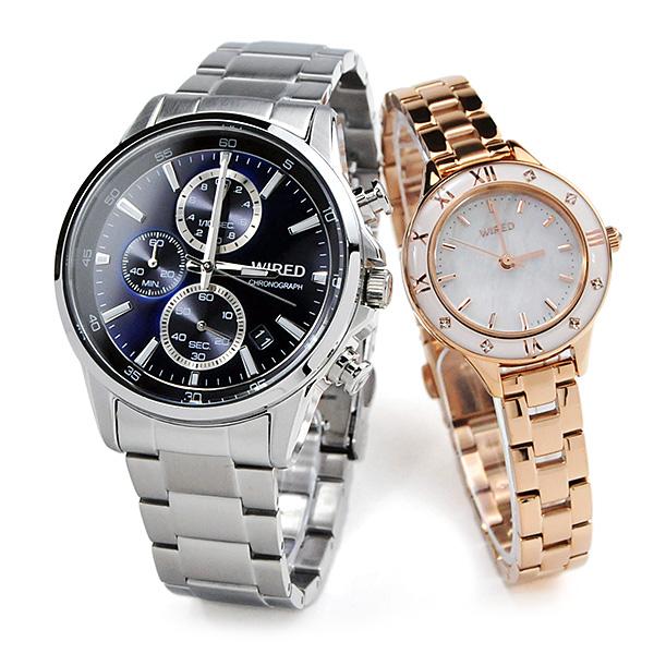 セイコー ワイアード/ワイアードエフ ペアウォッチ SEIKO WIRED&WIREDf AGAT423-AGEK441 33,0 white 腕時計 ペア
