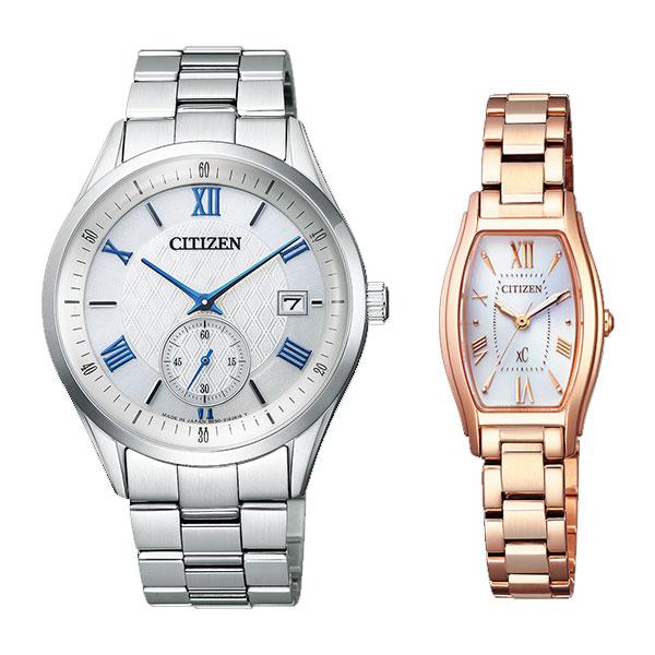 シチズンコレクション&クロスシー ソーラーペアウォッチ 腕時計 CITIZEN COLLECTION xc BV1120-91A-EW5543-54A 76,0