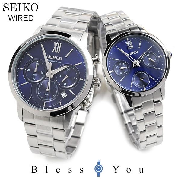 ペアウォッチ セイコー ワイアード SEIKO WIRED AGAT413-AGET405 32,0 [ネイビー] pair style