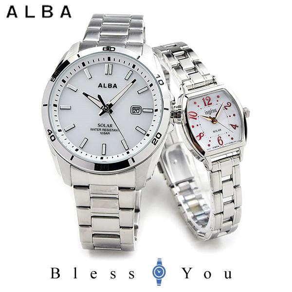 セイコー アルバ アンジェーヌ ペアウォッチ ソーラー SEIKO ALBA AQGD402-AHJD106 24.0 white 腕時計 ペア