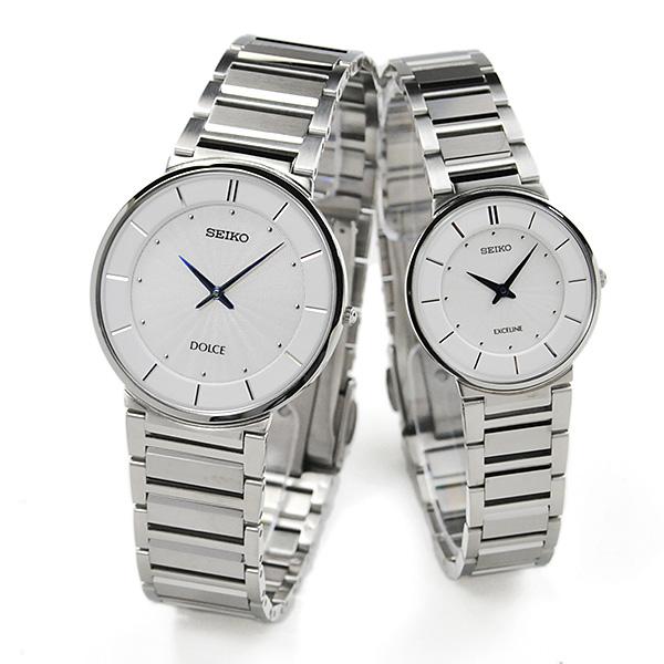 ペアウォッチ セイコー ドルチェ&エクセリーヌ 薄型 ドレスタイプ 腕時計 ペア SEIKO DOLCE&EXCELINE ホワイト O SACK015-SWDL147 120,0 カップル ウォッチ ブランド B10