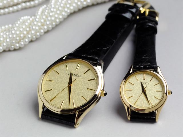 [お取り寄せ] セイコー ペアウォッチ 腕時計 ドルチェ&エクセリーヌ 薄型ペアウォッチ革ベルト 【新品お取り寄せ】 SEIKO SACM150-SWDL160 100,0 【腕時計 ペアウォッチ ペア カップル ウォッチ ブランド ギフト ペア腕時計】