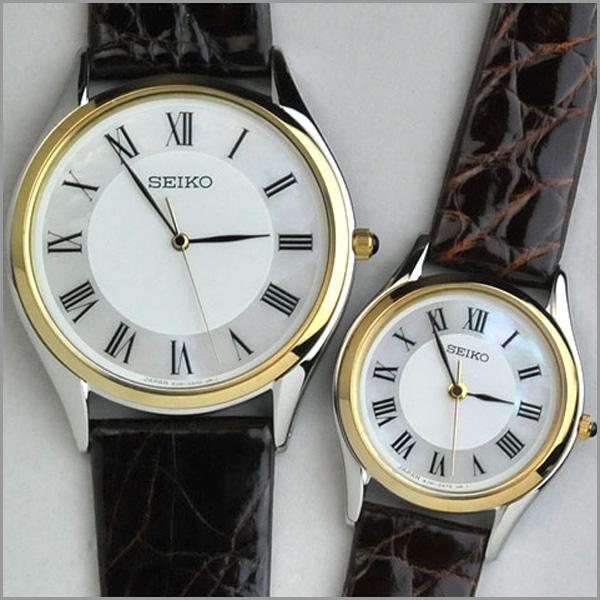 [お取り寄せ]セイコー 腕時計 ドルチェ&エクセリーヌ 薄型ペアウォッチ 革ベルト combi 【新品お取り寄せ】 SEIKO SACM152-SWDL162 ギフト 110,0【ペアウォッチ 腕時計 ペア カップル ブランド ウォッチ】