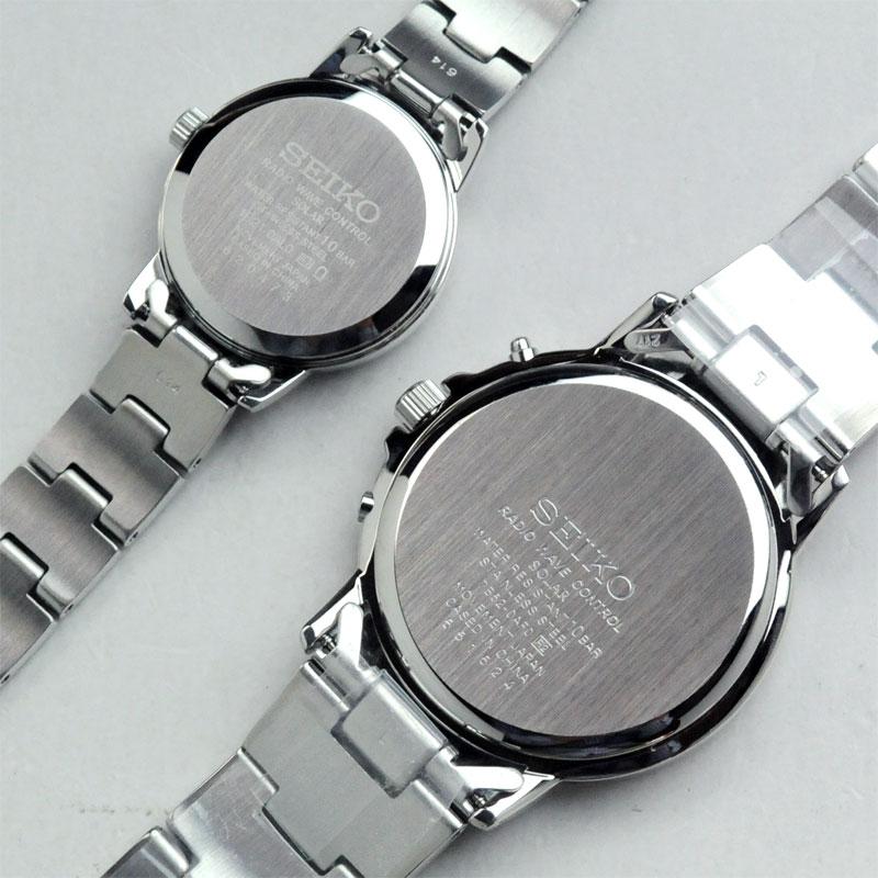 ペアウォッチ セイコー   腕時計 スピリット2 ソーラー電波 ペアウォッチ WH(B) SEIKO SBTM167-SSDY017【ペア カップル ブランド ウォッチ ペアウォッチ】100,0