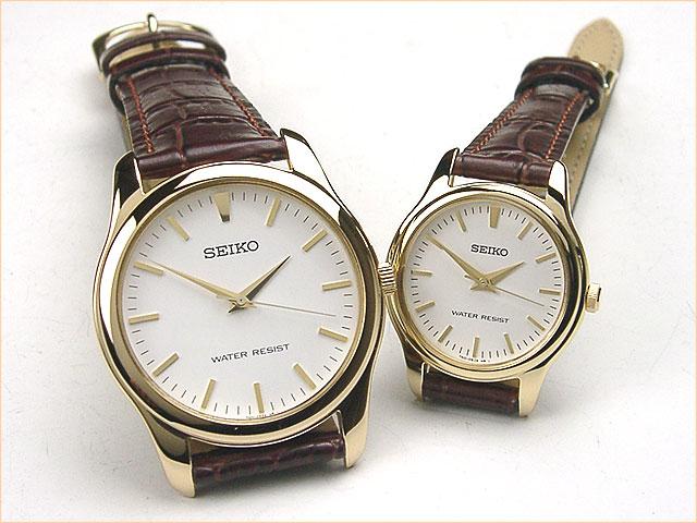 セイコー ペアウォッチ ベーシック薄型 革ベルト[gp] スピリット2 腕時計 ペア カップル ウォッチ ブランド】 革ベルトペアウォッチ ギフト  SCXP032-SSXP002 30,0