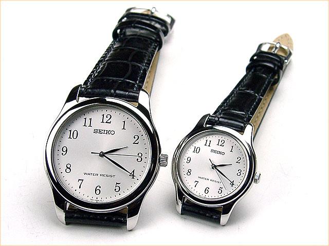 セイコー ペアウォッチ ベーシック薄型 革ベルト[ss2] スピリット2 腕時計 ペア カップル ウォッチ ブランド】 革ベルトペアウォッチ ギフト  SCXP033-SSXP003 30,0