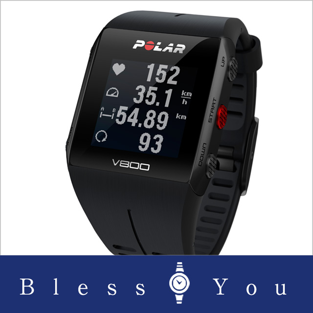 ポラール V800 2 HR ブラック 心拍センサー付 腕時計 GPSマルチスポーツウォッチ  polar 90060769 59,8 新品お取り寄せ
