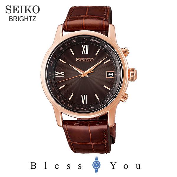 SEIKO BRIGHTZ セイコー ソーラー電波 腕時計 メンズ ブライツ 2019年5月 SAGZ098 100,0
