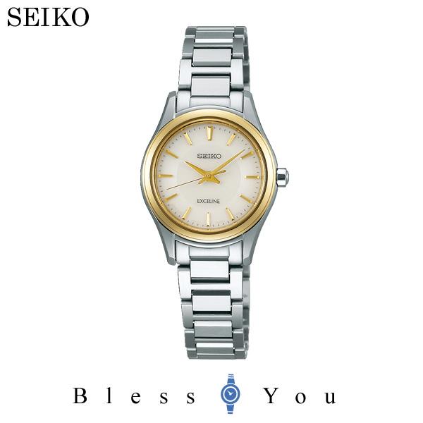 ポイント10倍 2017年10月 セイコー ソーラー 腕時計 レディース エクセリーヌ ペアモデル SWCQ094 50,0