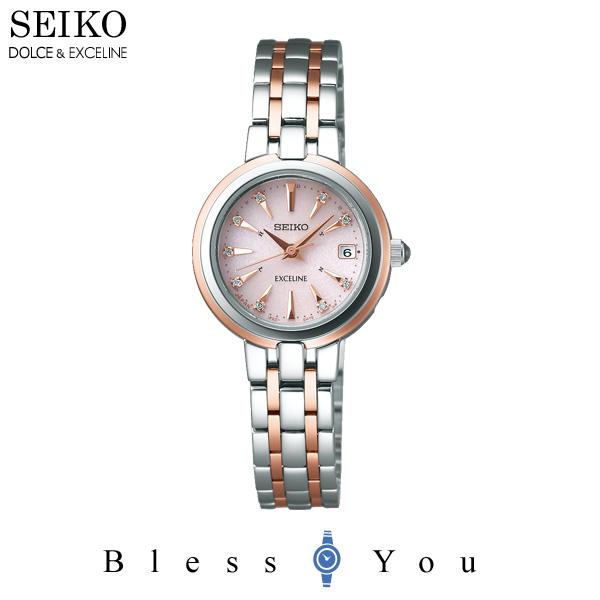 924e9e82f3c0 [セイコーウォッチ]SEIKOWATCH腕時計EXCELINEエクセリーヌソーラー電波修正カーブサファイアガラススーパー