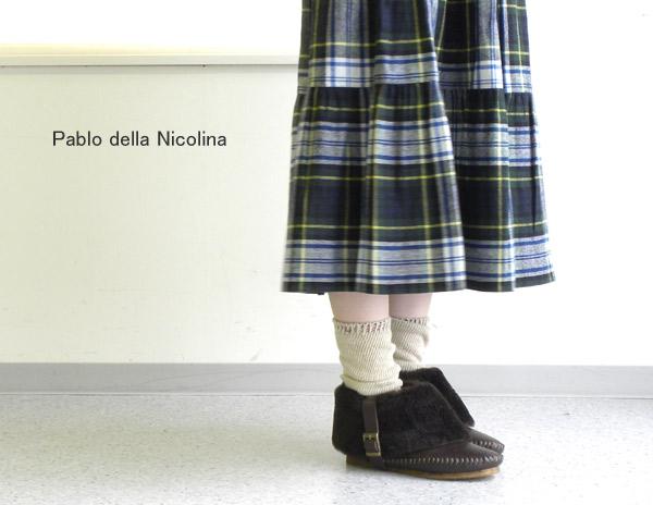 【クーポン利用で20%OFF】【パブロ・デラ・ニコリーナ Pablo della Nicolina】レザーファーブーティ・MIN/11F【シューズ】【50】X0【A-2】