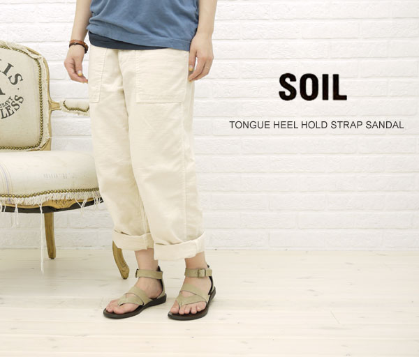 【20%OFFクーポン発行中!】【ソイル SOIL】TONGUE HEEL HOLD STRAP SANDAL・ENSL1102-0341101【レディース】【シューズ】【A-3】