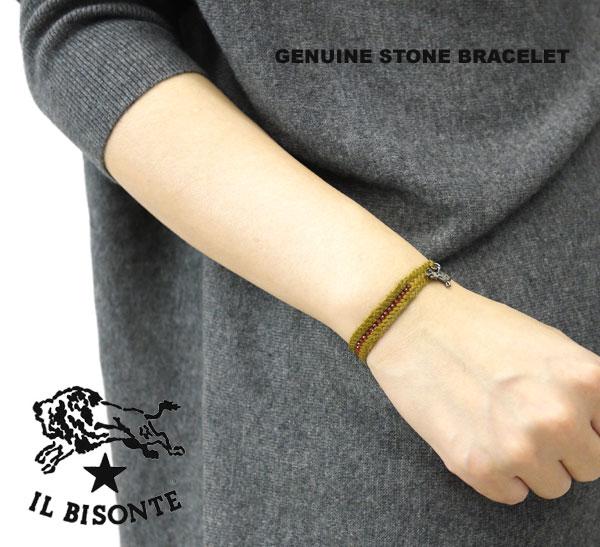 【イルビゾンテ IL BISONTE】天然石山羊革ブレスレット・5422317297-0061202【レディース】【1F-W】【アクセサリー】