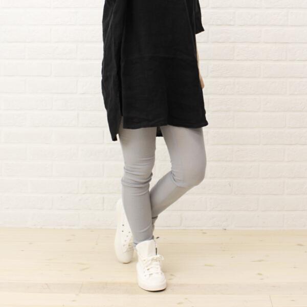 Midi-Umi (ミディウミ) cotton polyurethane leggings-1-76206-1261301