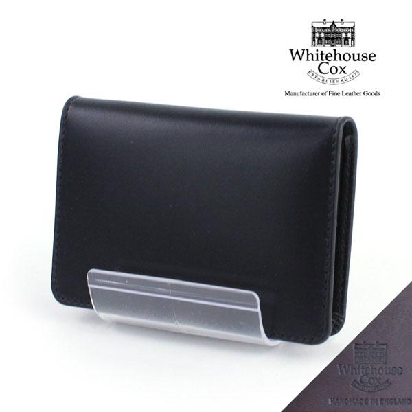 """【ホワイトハウスコックス Whitehouse Cox】ホースハイド 名刺入れ """"NAME CARD CASE(DERBY COLLECTION)""""・S7412-D-1831901【JP】【小物】"""