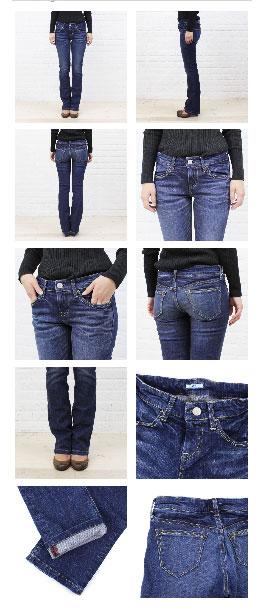 """D.M.G(Domingo) cotton polyurethane stretch denim """"4 P magic pants (28-2)""""-13-483 c-1271302"""