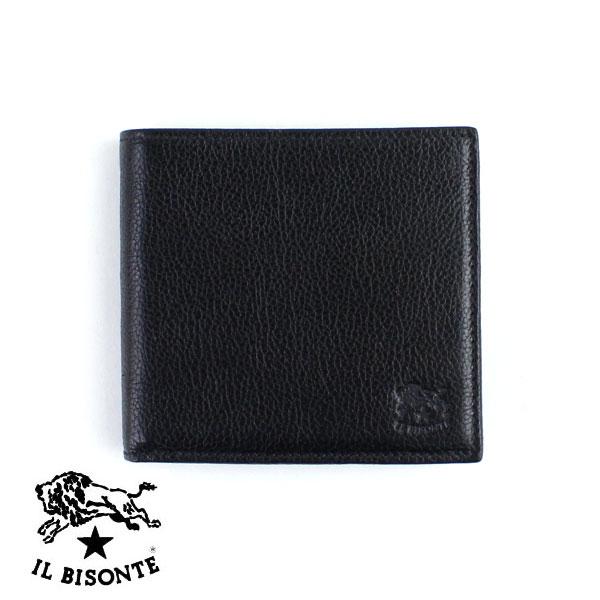【イルビゾンテ IL BISONTE】レザー パスケース付き 二つ折り 財布・5432404440-0061401【メンズ】【レディース】【小物】