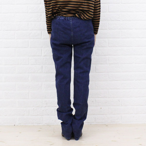 ■ ■ DEEP BLUE (deep blue) cotton stretch 12 minutes-length leggings and 73456-1621302