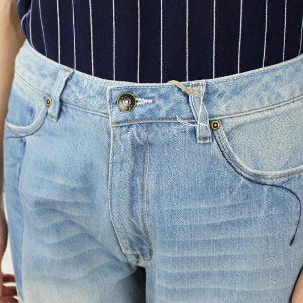"""It is LKL14SPT7-1571401 cotton tapered denim underwear """"Fur"""""""