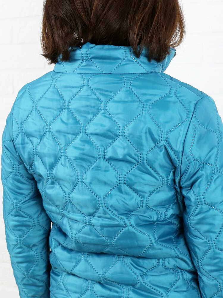 ARMEN (Amen) polyester quilted high neck double zip reversible jacket-NAM0565-0341402