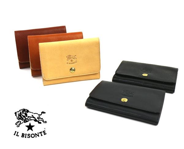 【イルビゾンテ IL BISONTE】レザー 二つ折り 財布・5432300240-0061901【メンズ】【レディース】【1F】【小物】