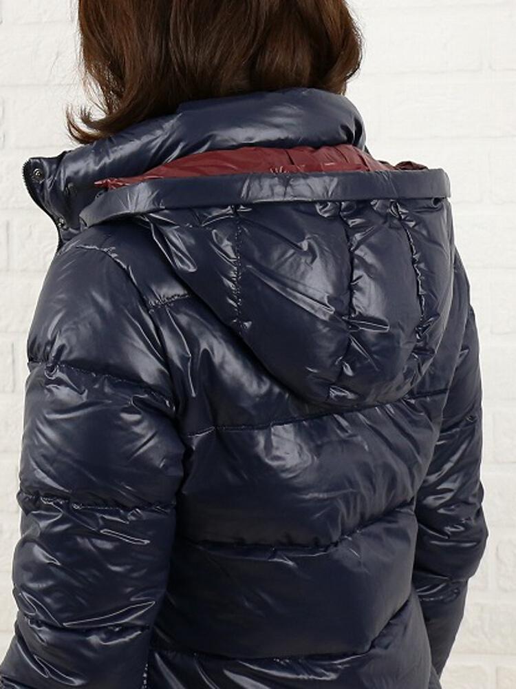 "DUVETICA (duvetica down) nylon down fur hood middle-length jacket ""SABIK""-SABIK-0061302"