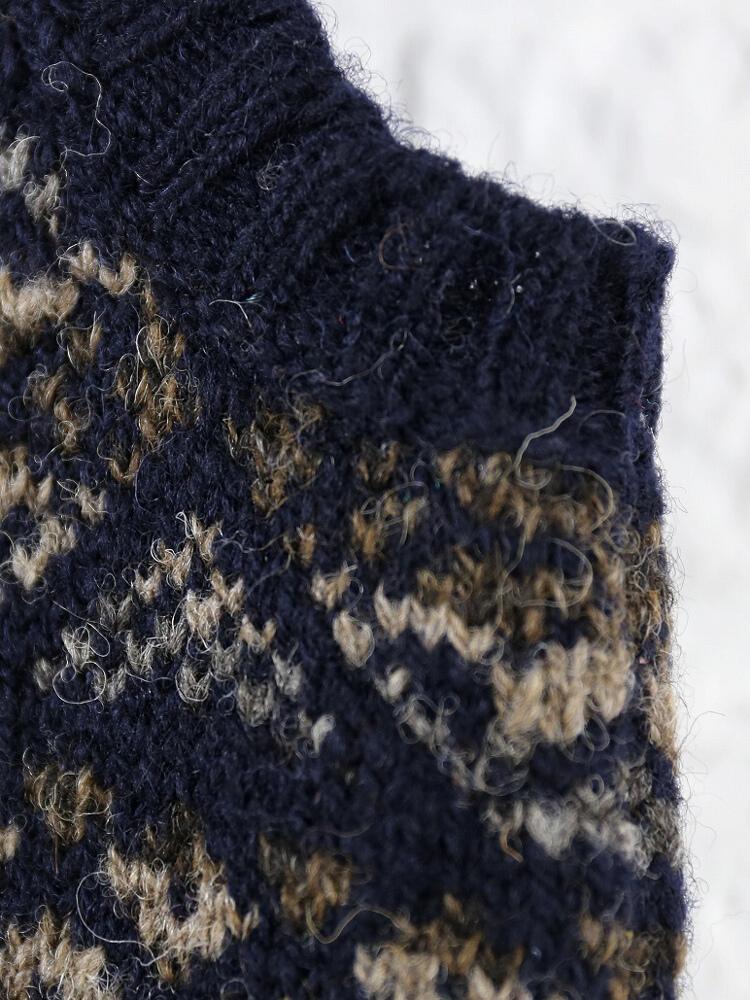 시트란드워르페아아일무늬 V넥 베스트・NJMS0952-0341402