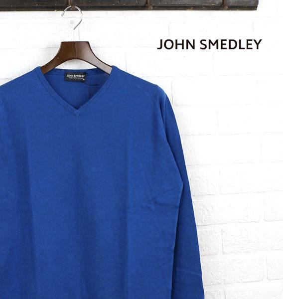 【20%OFFクーポン発行中!】【ジョンスメドレー JOHN SMEDLEY】コットン 長袖 Vネック ニットプルオーバー・NOLAN-2851501【メンズ】