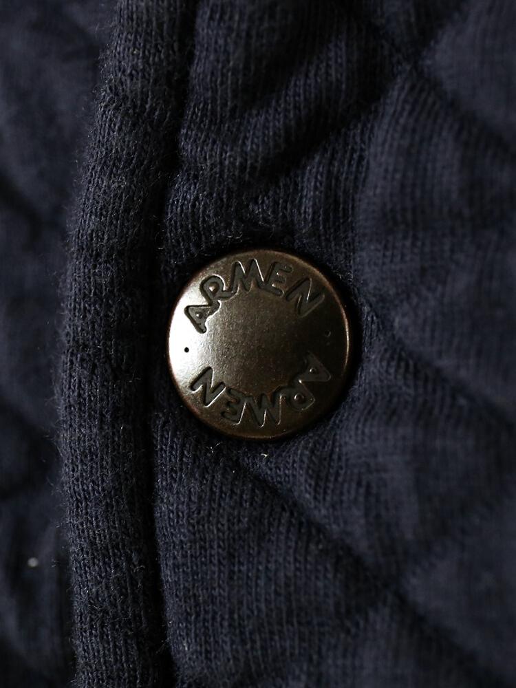 ARMEN (Amen) cotton polyester quilted shirt collar jacket-NAM0602-0341501