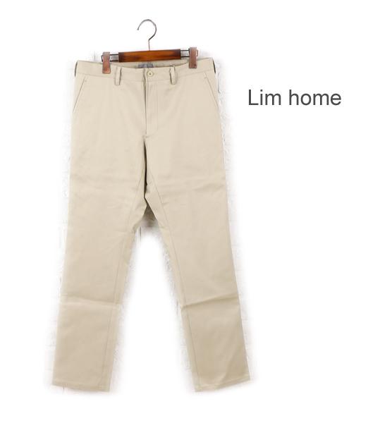 【クーポン利用で20%OFF】【リムホーム Lim Home】コットン ポリウレタン ストレート スラックスパンツ・LH-P023-3301501【メンズ】