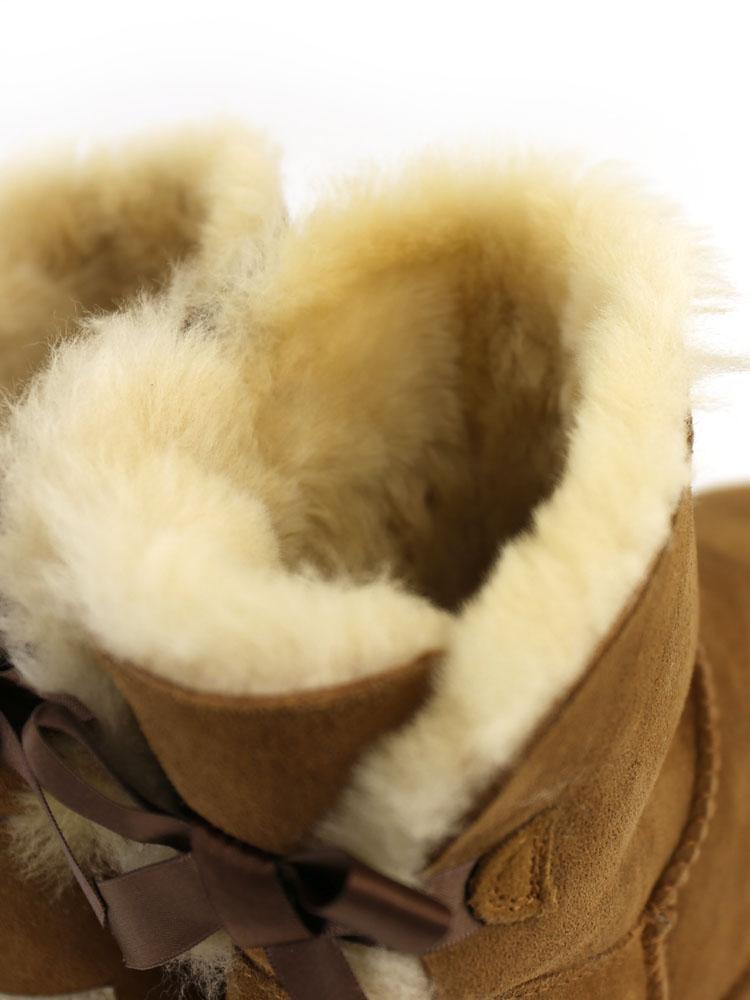"(Ugg Australia) UGG Australia Sheepskin short boots ""W MINI BAILEY BOW""-1005082-2541402"