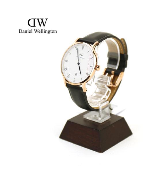 """【ダニエル・ウェリントン Daniel Wellington】レザーストラップ ローズゴールド ラウンド 腕時計 """"Dapper Sheffield Rose Gold/38mm""""・1101DW-3171502【メンズ】【レディース】【1F-W】【アクセサリー】【◎】"""