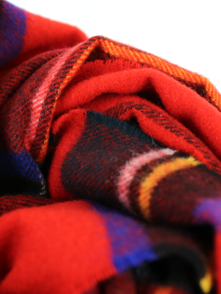 JOHNSTONS (johnstones) wool check oversized scarf-ES-0341302