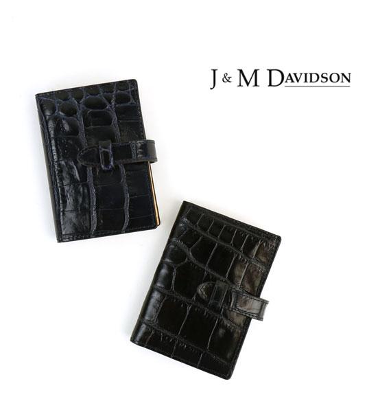 【ジェイ&エム デヴィッドソン J&M DAVIDSON】クロコ型押しレザー カードケース・7528-7267-0271502【レディース】【小物】