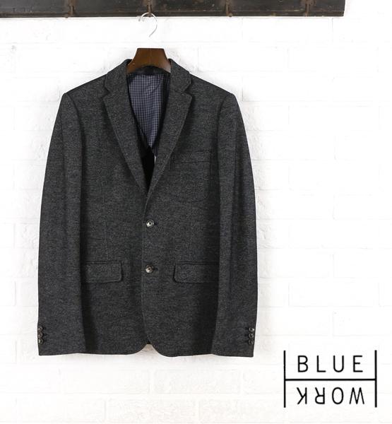 【クーポン利用で20%OFF】【ブルーワーク Blue Work】ウール テーラードジャケット・54-07-54-07103-0171502【メンズ】【last_1】