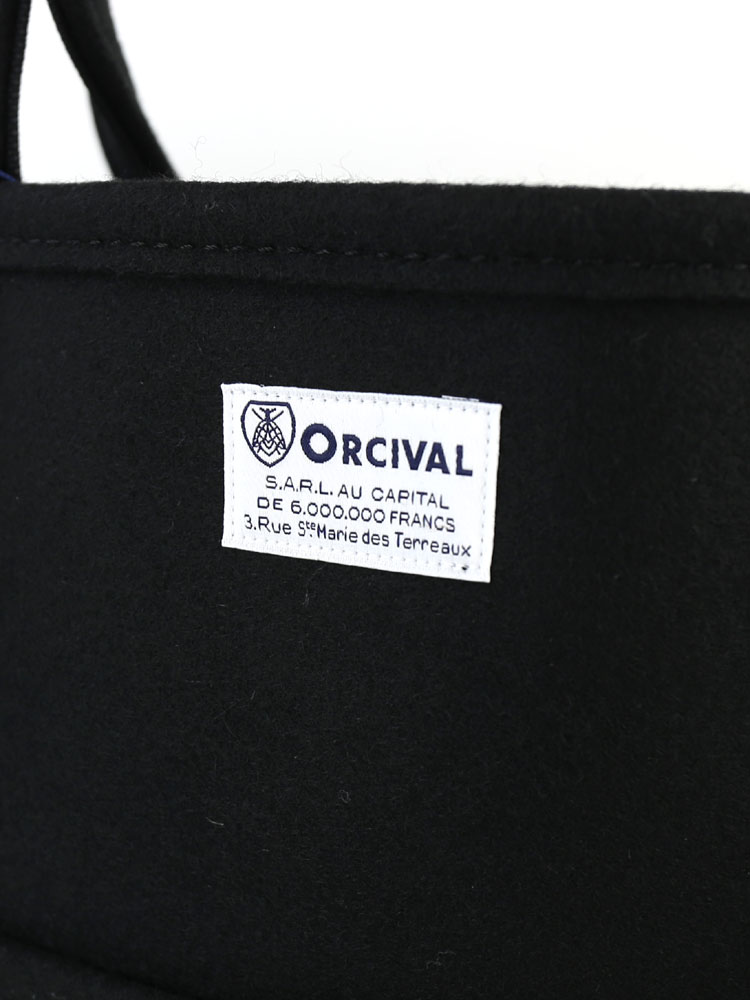 ORCIVAL (auch bar, or SIBL) wool nylon Melton tote bag, RC-7058WMT-0321402
