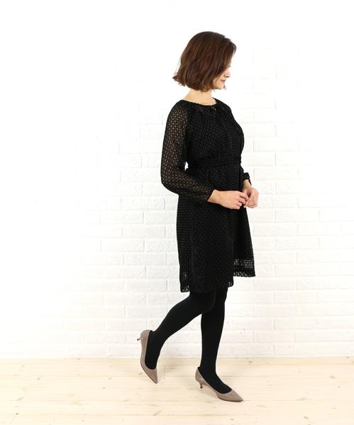 【クーポン利用で20%OFF】【ドレスアプト Dress apt.】ポリエステル ベルト付き ワンピース・16405-1991502【レディース】