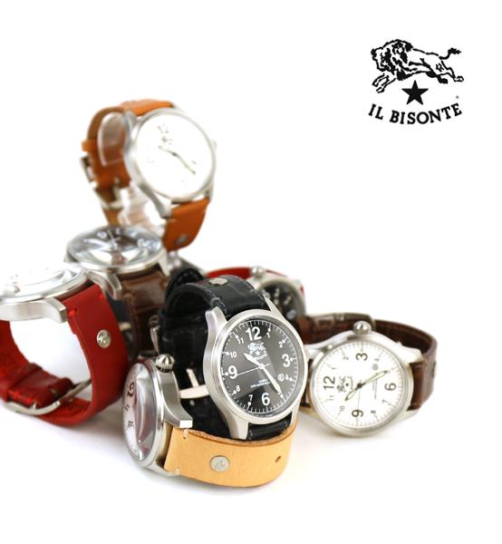 【イルビゾンテ IL BISONTE】レザー 型押しレザー カレンダー付き クォーツ式 腕時計 リストウォッチ(L)・5422310597-A-0061802【メンズ】【レディース】【1F】