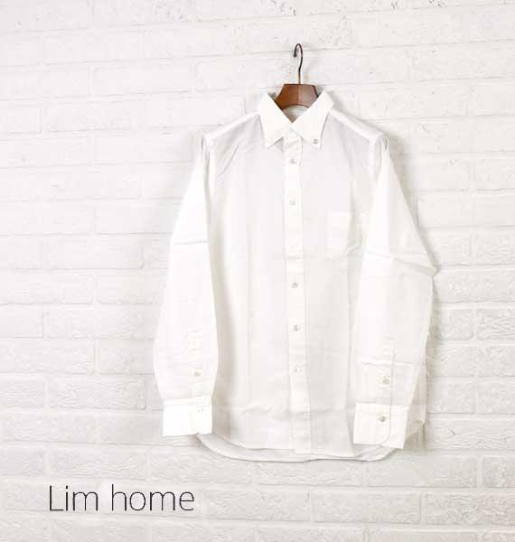 """【クーポン利用で30%OFF】【リムホーム Lim Home】コットン オックスフォード 長袖 ボタンダウンシャツ """"smart shirt""""・LH-B035-M-3301602【メンズ】【トップス】【◎】"""