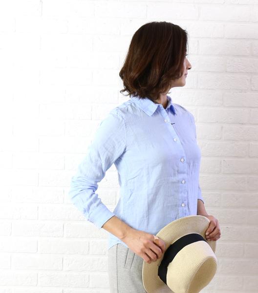 【クーポン利用で30%OFF】【リムホーム Lim Home】リネン 長袖 シャツ Puzzle shirt・LH-B069-3301601【レディース】【トップス】【◎】