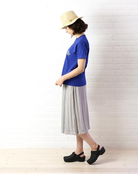 "【20%OFFクーポン発行中!】【カーキ kha:ki】コットンリネン 切替え ニットスカート ""Side Switch Skirt""・MIL-16SSK27-1571601【レディース】【last_1】"